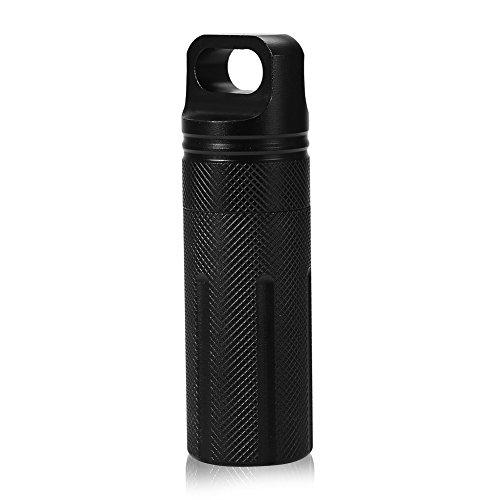 Förvaringsbehållare, vattentät nyckelknippa för utomhusbruk förvaringsbehållare för medicinlådor pillerhållare kapslätningsbehållare[svart], pillerask pillerburkarmedicineringshjälpmedel