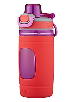 bubba Flo Kids Water Bottle with Silicone Sleeve, 16 oz., Coral