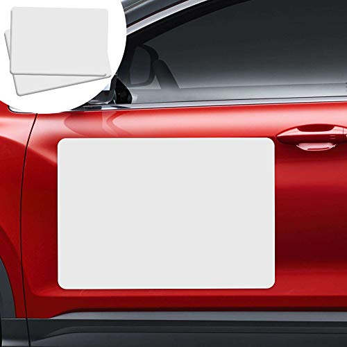 2 Pack Blank Magnets, Prevent Car Scratches & Dents, Rounded Corners Blank Car Magnet Set, Magnet for Car to Advertise Business and Cover Company Logo