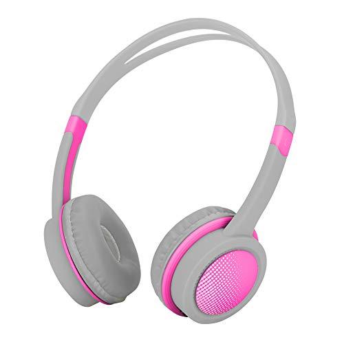 Hoofdtelefoon voor kinderen, 85 dB, volume, gehoorbescherming, gehoorbescherming, ruisonderdrukking, licht, comfortabel, flexibel, voor kinderen, Roze