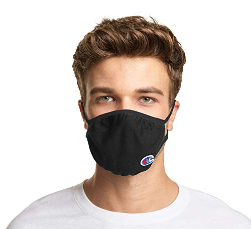 Champion Adult Ellipse Mask Pack of 3, Black, L/XL