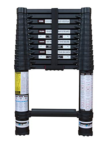Xtend & Climb Contractor Series 125+/300 Telescoping ladder, Black