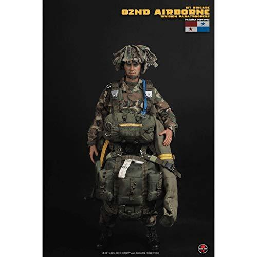 CQ 1/6 Ejército Escala figura de acción militar, 12 división aerotransportada pulgadas U.S 82a paracaidistas flexible masculino Soldado modelo de recogida de juguetes militares Set de Juegos: Hombre r