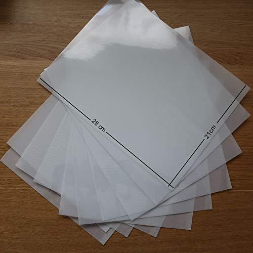T S S Transferpapier / Folie, 210 x 280 mm, Acryl, für verschiedene Verwendungszwecke geeignet, 10 Bögen