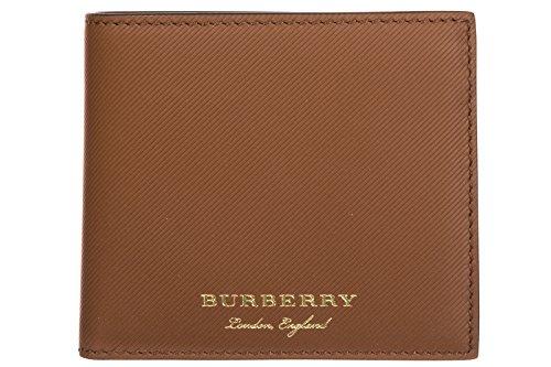 Burberry portafoglio uomo pelle bifold originale Reg Ccbill8 marrone