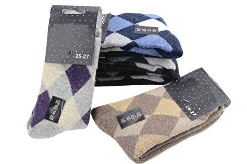 Ysting Super épais 5 paires d'homme doux confort chaud Socks (couleur aléatoire) Hommes