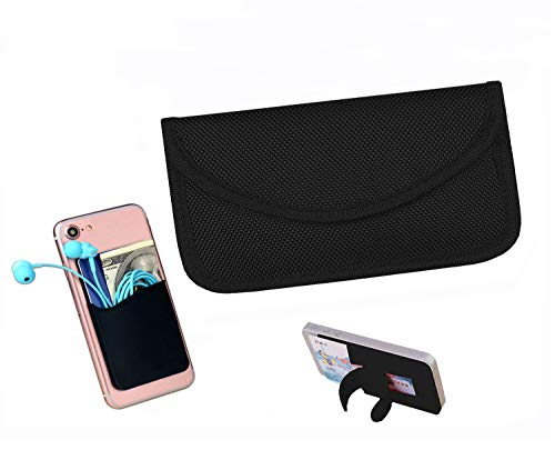 Best Faraday Bag,100% Anti-Spying Anti-Tracking GPS RFID Signal Blocker Bag for Cell Phone Privacy Protection and Car Key FOB, Healthy Handset Privacy Protection Travel & Data Security