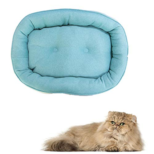 xihan123 Cojin Gato Cómodo Cama para Perro Durable Cama Perros Precioso Cama para Gato para Mascota Cachorro Gatito Conejito Buena Experiencia De Sueño Viaje Casa Green,S