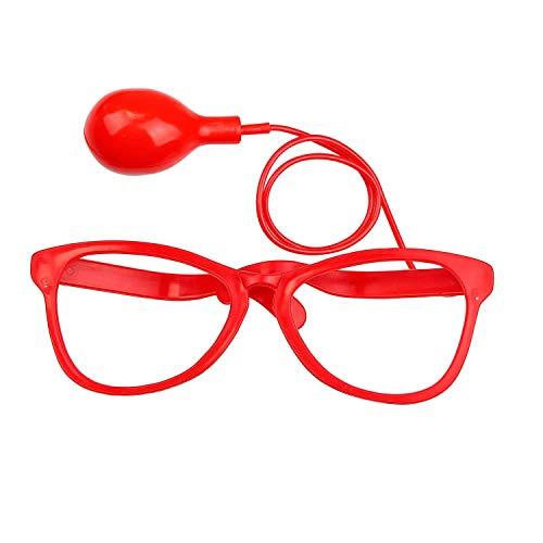 Widmann 27181 - Maxi-Spritzbrille, Spaßartikel, Wasserspritze, Scherzartikel, Clown, Karneval, Mottoparty