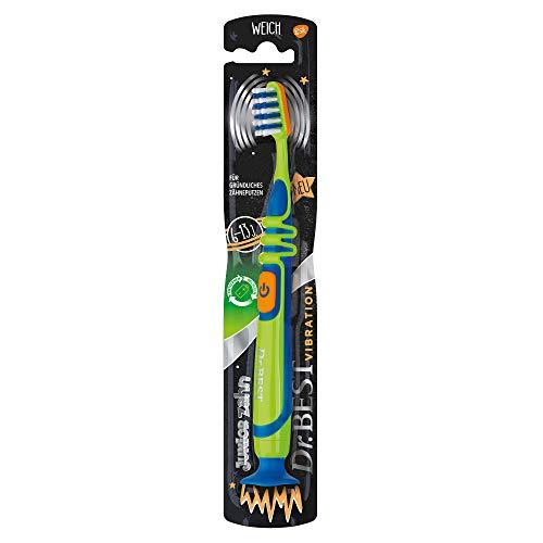 Dr.Best Vibration Juniorzahn Zahnbürste, weich, für gründliches Zähneputzen
