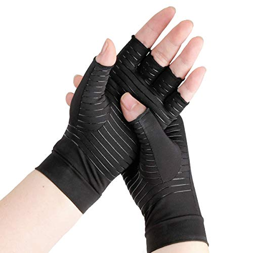 Arthritis Gloves, Comfy Brace Arthritis Hand Compression Gloves,Comfortable and Breathable,Copper...