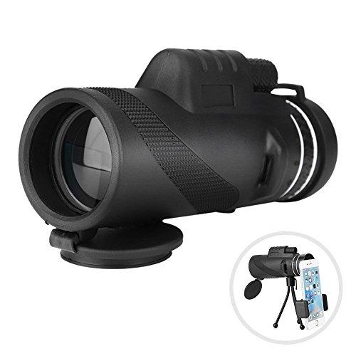 Topiky 40x60 Telescopio monocular 8X Zoom Manual Enfoque de visión Nocturna Teléfono de visión Grande Telescopio monocular con Mini trípode