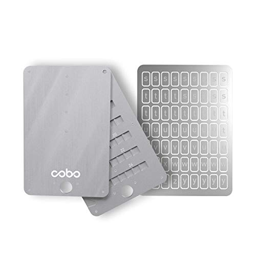 Cobo Tablet Plus - Indestructible Steel Bitcoin Crypto Cold Storage Seed Backup, Compatible with All BIP39 Hardware & Software Wallets, Ledger Nano, Trezor, KeepKey, Coldcard, Supports up to 24 Words