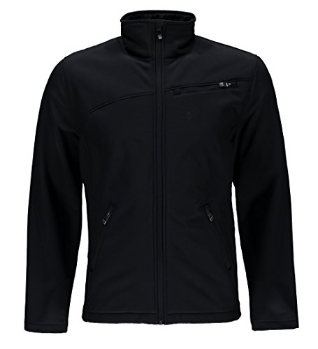 Spyder Men's Softshell Jacket, Black/Black, X-Large
