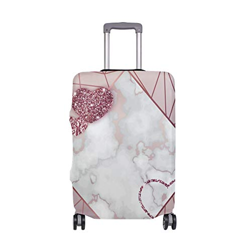 Moyyo Gold Rose Glitter Heart Luggage Cover Suitcase Protector Cover Travel Luggage Cover Elastic Suitcase Cover Washable Luggage Cover Fits 29-32 inch Luggage