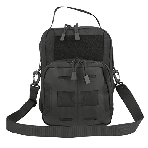 Cuque Multiple Pockets Sling Bag, Military Backpack, Haversack Military Bag, Nylon Oxford Waterproof Hiking For Outdoor Camping Mountain Climbing For Sports(black)