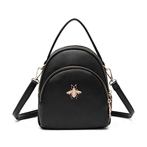 Fashion Mini Backpack Purse for Women Girls Cute Shoulder Bags (black)