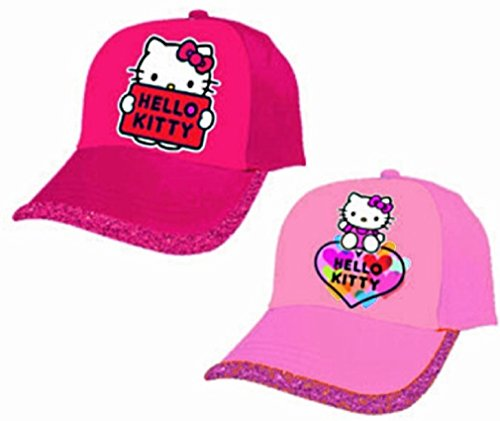 1 CASQUETTE HELLO KITTY AJUSTABLE ROSE PAILLETTE TAILLE 54 CM MODE