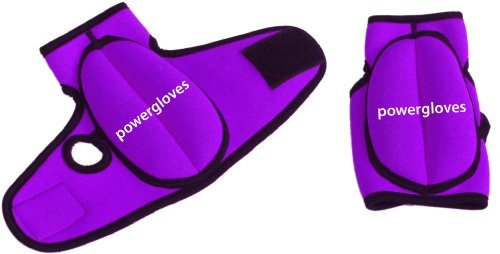 Powergloves Weighted Workout Gloves: Small/0.25 kg Per Glove (Purple)
