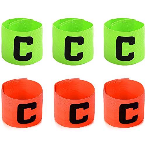 Brazalete de capitán de fútbol para Adultos/niños - Velcro para tamaño Ajustable, Adecuado para múltiples Deportes (Paquete de 3 Colores)