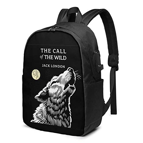 IUBBKI The Ca-Ll Of The W-Ild 17 Inch Laptop Backpack For Men & Women,Travel/School Backpack With Usb Charging Port & Headphone Interface