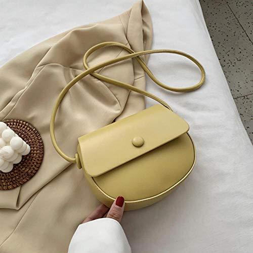 PANZZ Solid Color Bag Crossbody Bags Women Summer Shoulder Sacs à Main, Jaune, Mini