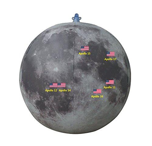 BottleClocks Gonflable Lune Apollo Landing Sites, 50e Anniversaire.