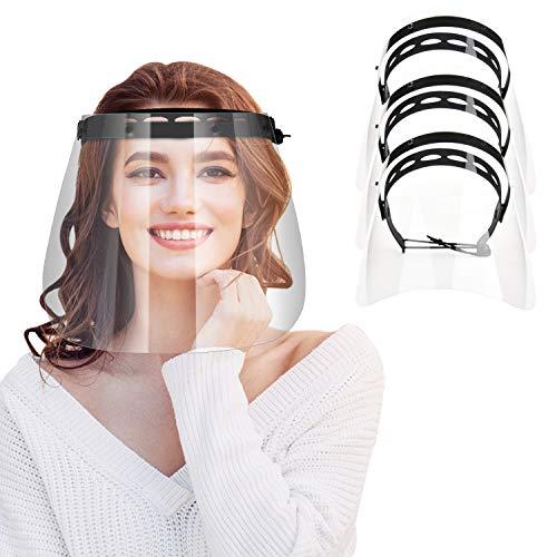 IYQOL® 3 Stücke Visier Gesichtsschutz, 3 x Halterungen mit je 1 Wechselfolien