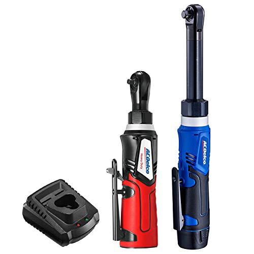 "ACDelco ARW1218-K18 G12 Series 12V Li-ion Cordless 3/8"" Extended Rachet Wrench & ¼"" Ratchet Wrench Combo Tool Kit"