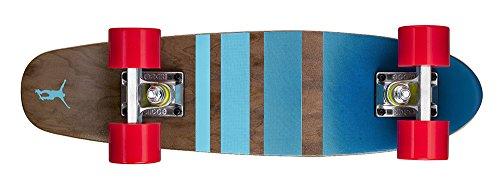 Ridge Erwachsene Maple Holz Mini Cruiser Number Three Skateboard, Rot