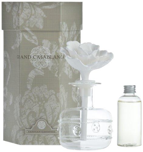 Zodax Grand Casablanca Porcelain Diffuser, Tahitian Gardenia Scent