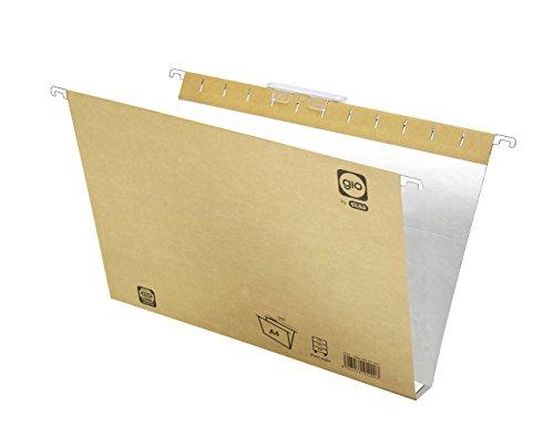 Elba Gio 400021943 - Caja de 25 carpetas colgantes para cajón, A4, bicolor