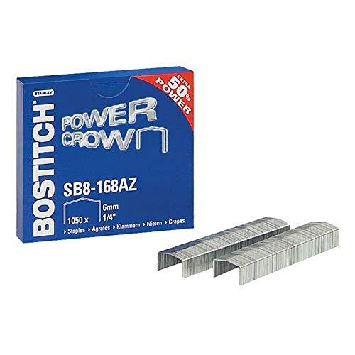 Bostitch 10500 (1050 x 10-pack) nietjes, B8 Flat Clinch/B8 New Gen/B8 Mini/B8 Classic/B850-BLK, nietdikte 11 x 6 mm, SB8-168AZ