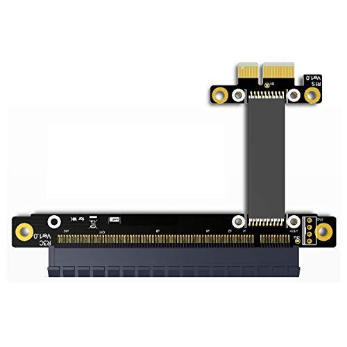 cablecc PCI-E gen3.01x zu 16x Riser Kabel 30cm 40cm 50cm 60cm PCI-Express PCI-E X16Extender rechts abgewinkelt Ellenbogen Design 0.3M