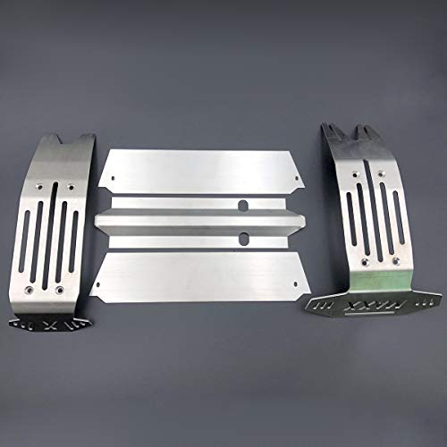 ACHICOO Acero Inoxidable Chassis Armor Front & Rear Skid Plate for T-RAXXAS X-MAXX XMAXX