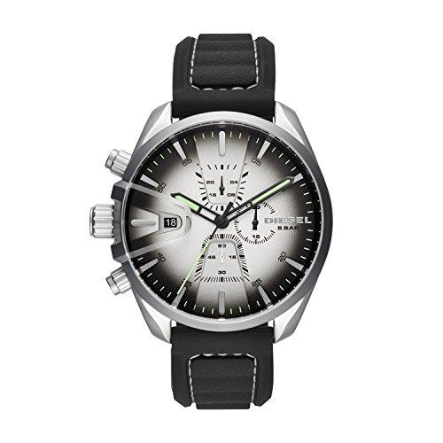 Diesel Herren Chronograph Quarz Smart Watch Armbanduhr mit Silikon Armband DZ4483