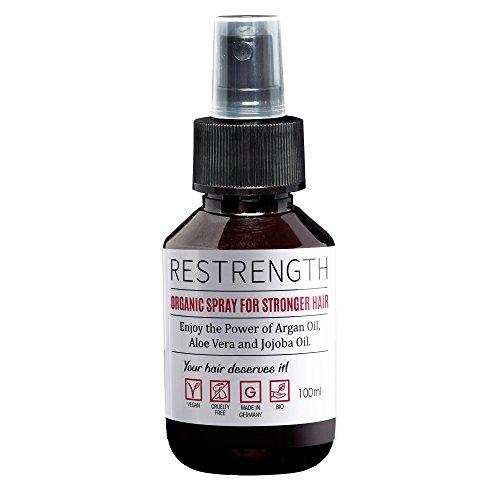 Haarwachstum Spray Restrength | Mit Arganöl, Aloe Vera & Jojobaöl | Haarwachstum beschleunigen | Haarwuchsmittel Männer | Spray für schnelleren Haarwuchs | Haarwachstum Serum Alternative