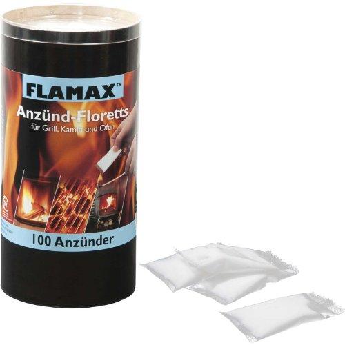 FLAMAX Anzünder für Kamin und Ofen, geruchlos, 100 Sachets