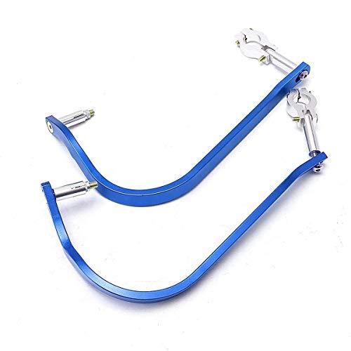 PUXINGPING- 2X 7/8' Stand 22mm Motocicleta Universal Guanteletes del Protector del motocrós Bici de la Suciedad Manoplas de Manillar Guardias de Mano de Aluminio de Barra (Color : Blue)