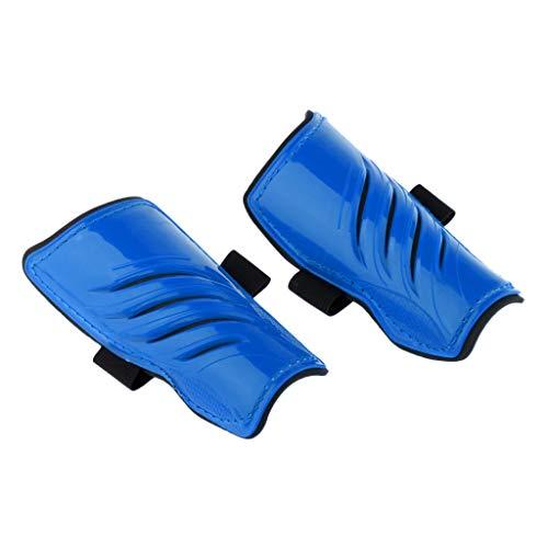 perfk Kinder-Schienbeinschoner Schienbeinschützer für Jungen-Mädchen Fußballschienbeinschutz - Blau