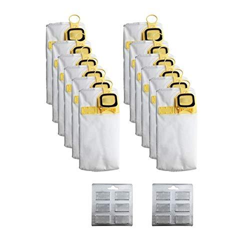 XIAOFANG 12pcs efficacité Sac à poussière Remplacer Fit for Vorwerk VK140 VK150 FP-140 Aspirateur (Color : White)