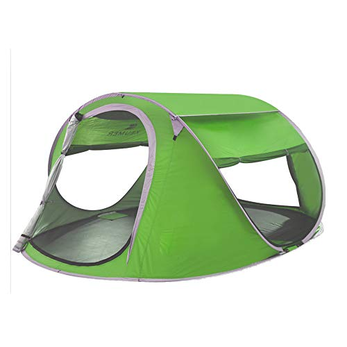 MGKMG Automatische Pop-Up Zelt Strand-Zelt Für 2-4 Personen, Set Up Augenblicklich Einfacher Folding Refuge Mit UV-Resistant Coating, Geeignet Für Camping Und Wandern,Grün
