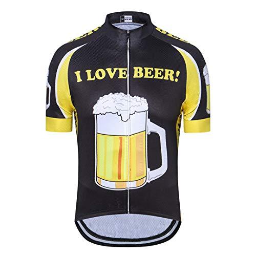 Adoro birra Abbigliamento per il ciclismo Traspirante Jersey in bicicletta Manica corta MTB Bike Bike Jersey Racing Bicycle Vestiti