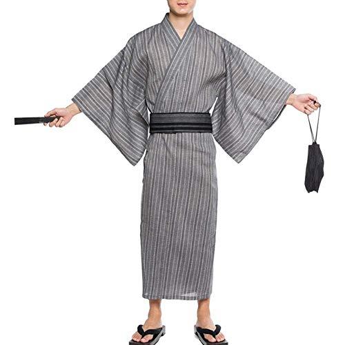 ZLININ Y-Longhair Herren-Japanisch Yukata japanischer Kimono-Startseite Robe Pyjamas...