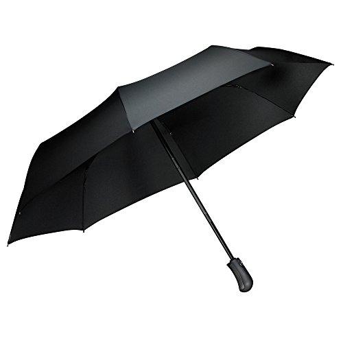 Ombrello Pieghevoli Antivento Automatico, [One Hand Open & Close], Tquens® Compatto Antivento Ombrello con 41.5 Inch Wide Canopy Extra, Robusto Ombrello per esterno da viaggio - H100 (000EH20660)