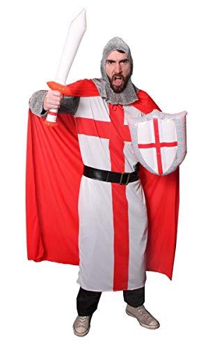 ILOVEFANCYDRESS Disfraz DE Caballero DE San Jorge Traje TEMTICO DE Historia para Adultos con Espada Y Escudo Inflable (S)