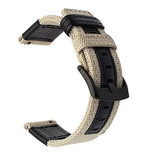 22 mm 20 mm Correa de reloj de nailon para Samsung Galaxy 46 mm Reloj 3 bandas 41 mm 45 mm Gear S3 Correa deportiva