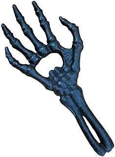Alchemy Gothic Skeletal Hand Bottle Opener - Spooky Bar Decor - Halloween Decor Halloween Skull Skeletal Hand Holder Candle Light Decoration Party Lamps Prop (Green)