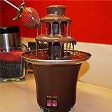 MIAOLEIE Setirc Setirc Chocolate Fondue 3 Nivel De Acero Inoxidable Calentador De Chocolate Eléctrico Dip Fountain Fonda Fondue