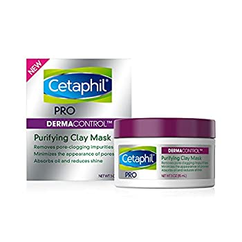 Clay Mask by Cetaphil Pro Dermacontrol Purifying Clay Face Mask with Bentonite Clay for Blackheads and Pores Designed for Oily Sensitive Skin 3 oz
